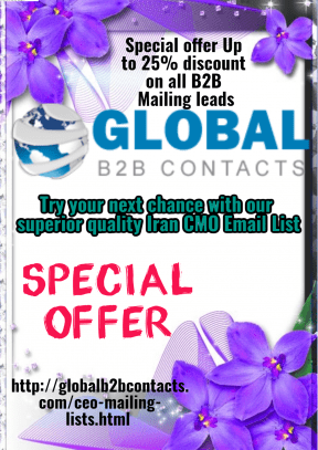 Try your next chance with our superior quality Iran CMO Email List