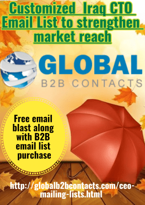 Customized Iraq CTO Email List to strengthen market reach