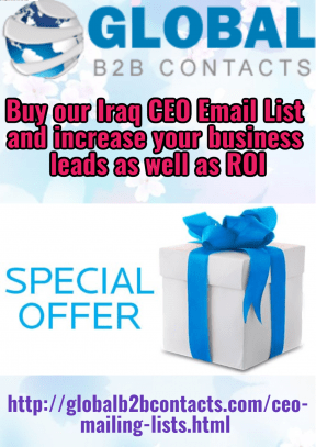Buy ourIraq CEO Email List and increase your business leads as well as ROI