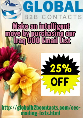 Make an intelligent move by purchasing our  Iraq COO Email List