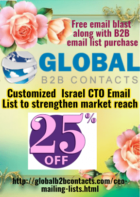 Customized  Israel CTO Email List to strengthen market reach
