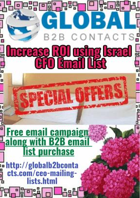 Increase ROI usingIsrael CFO Email List