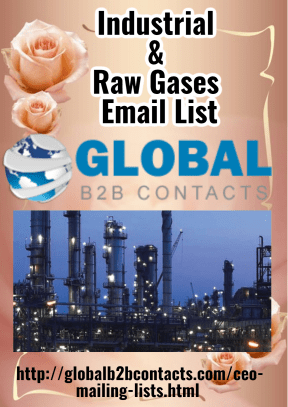 Industrial  &  Raw Gases  Email List
