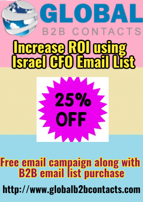 Increase ROI using  Israel CFO Email List