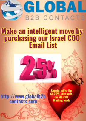 Make an intelligent move by purchasing our Israel COO Email List