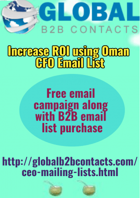 Increase ROI using Oman CFO Email List