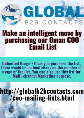 Make an intelligent move by purchasing our Oman COO Email List