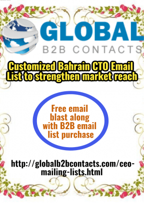Customized Bahrain CTO Email List to strengthen market reach