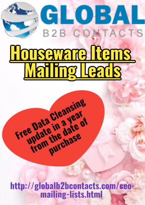 Houseware Items Mailing Leads