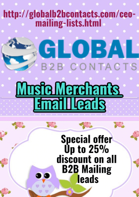Music Merchants Email Leads