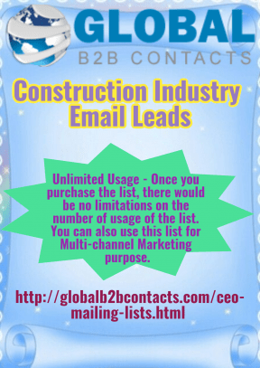 Construction Industry Email Leads