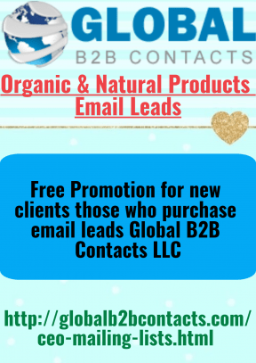 Organic & Natural Products Email Leads