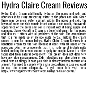 Hydra Claire Cream Reviews
