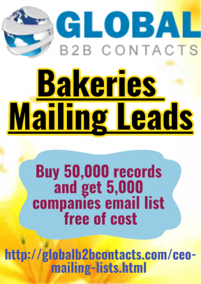 Bakeries Mailing Leads