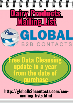 Dairy Products Mailing List