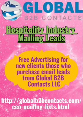 Hospitality Industry Mailing Leads