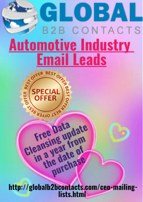 Automotive Industry Email Leads