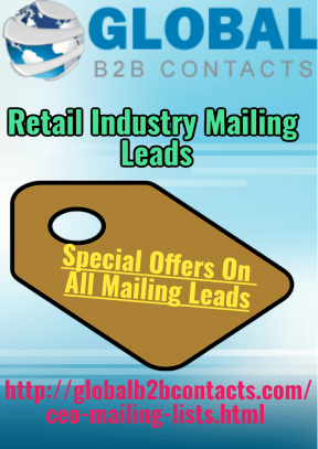 Retail Industry Mailing Leads