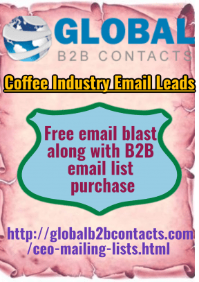 Coffee Industry Email Leads