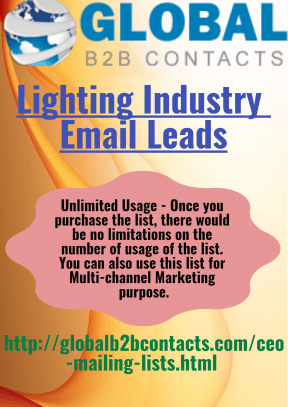Lighting Industry Email Leads