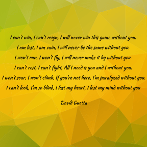 Lyrics-Without You-David Guetta