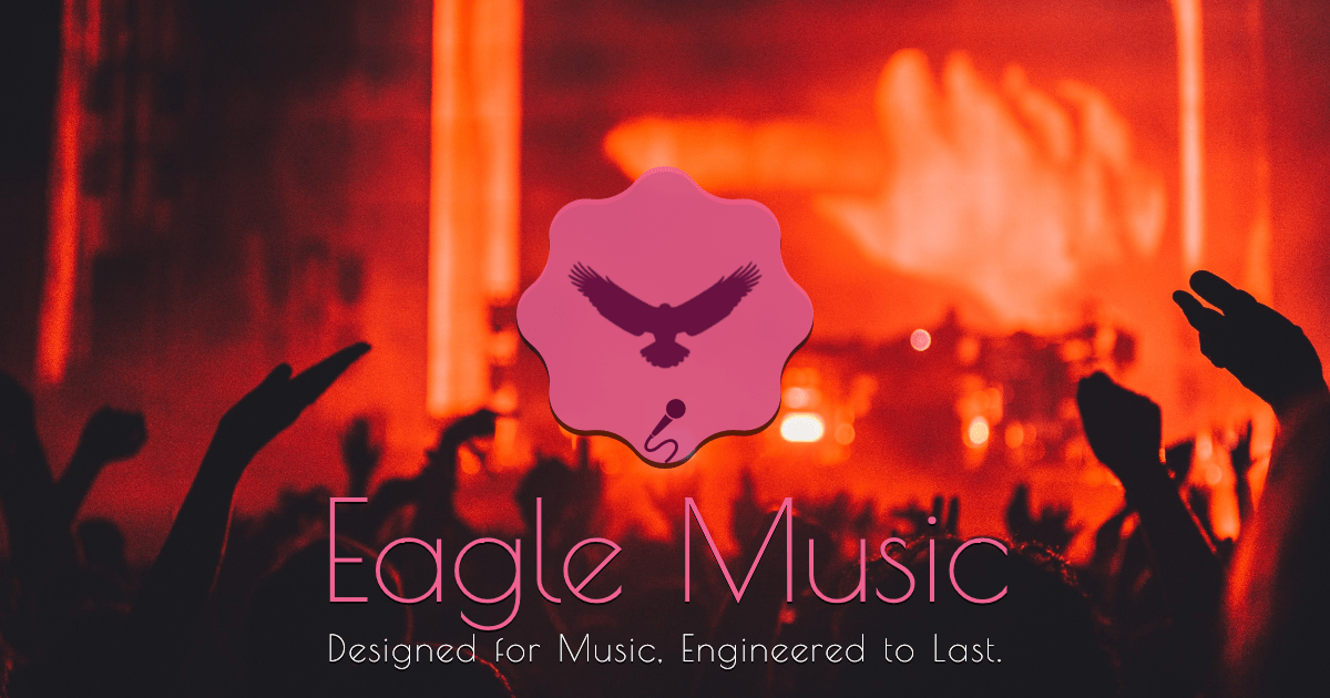 #Logo #EagleMusic Design  Template