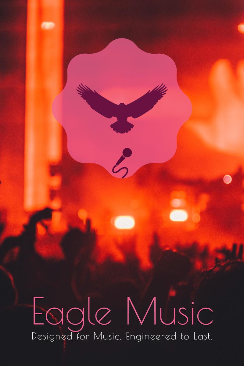 #Logo #EagleMusic Design  Template