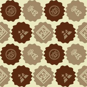 Pattern Design - #IconPattern #PatternBackground #art #decorative #ovals #jagged #ornament #floors