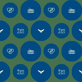 Pattern Design - #IconPattern #PatternBackground #camera #black #shape #geometrical #security #chrysaetos #pin