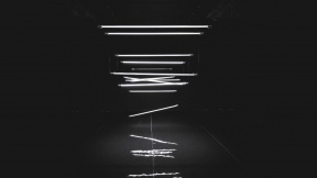 Photo - #Photography #Photo #darkness #from #monochrome #photography #A #lighting #room. #line #lights