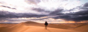 Photo - #Photography #Photo #sky #sahara #sand #Person #alone #through #desert #aeolian #sands