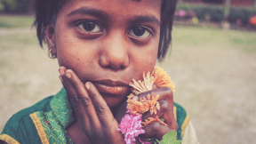 Photo - #Photography #Photo #mouth #flowers #human #nose #child #colorful #A #girl #face