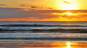 Photo - #Photography #Photo #sunrise-or-sunset #orange #shore #rolling #ocean #next #view #silhouette #calm #sunrise