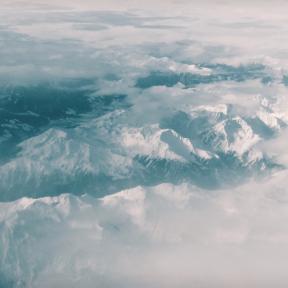 Photo - #Photography #Photo #wave #drone #sky #snow #ocean #fog. #atmosphere