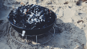 Photo - #Photography #Photo #A #that's #beach #charcoal #and #fire #bakeware