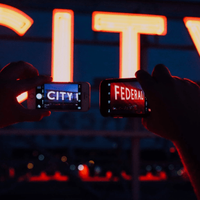 """Photo - #Photography #Photo #technology #display #phones. #takes #signs #""""City"""" #night #A #sign #device"""