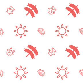 Pattern Design - #IconPattern #PatternBackground #animal #bear #prize #cup #food
