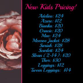 kids pricing
