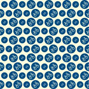 Pattern Design - #IconPattern #PatternBackground #bicycle #transport #circles #vehicle #music #shapes