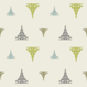Pattern Design - #IconPattern #PatternBackground #building #monument #monuments #castle #castles #palace