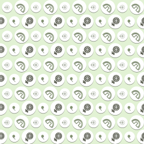 Pattern Design - #IconPattern #PatternBackground #and #park #shape #watering #atom #garden #yard #circles #hosepipe