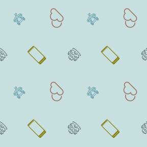 Pattern Design - #IconPattern #PatternBackground #tool #meteorology #Flowerpot #mobile #and #Tools #phone #desert