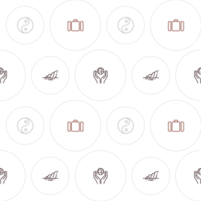 Pattern Design - #IconPattern #PatternBackground #ecological #asian #holidays #philosophy #utensils #shapes #sea #religion