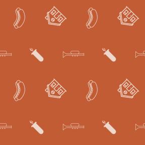 Pattern Design - #IconPattern #PatternBackground #tube #home #houses #Jazz #wind #musical #halloween