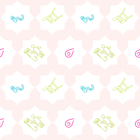 Pattern Design - #IconPattern #PatternBackground #corners #map #placeholder #florets #ragged #motherhood #rounded #location