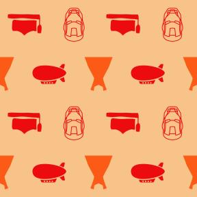 Pattern Design - #IconPattern #PatternBackground #dress #zeppelin #student #comic #cap #transport #movie #graduation #graduate