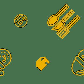 Pattern Design - #IconPattern #PatternBackground #building #restaurants #animals #hat #restaurant #animal #buildings #interface #aquarium #forks