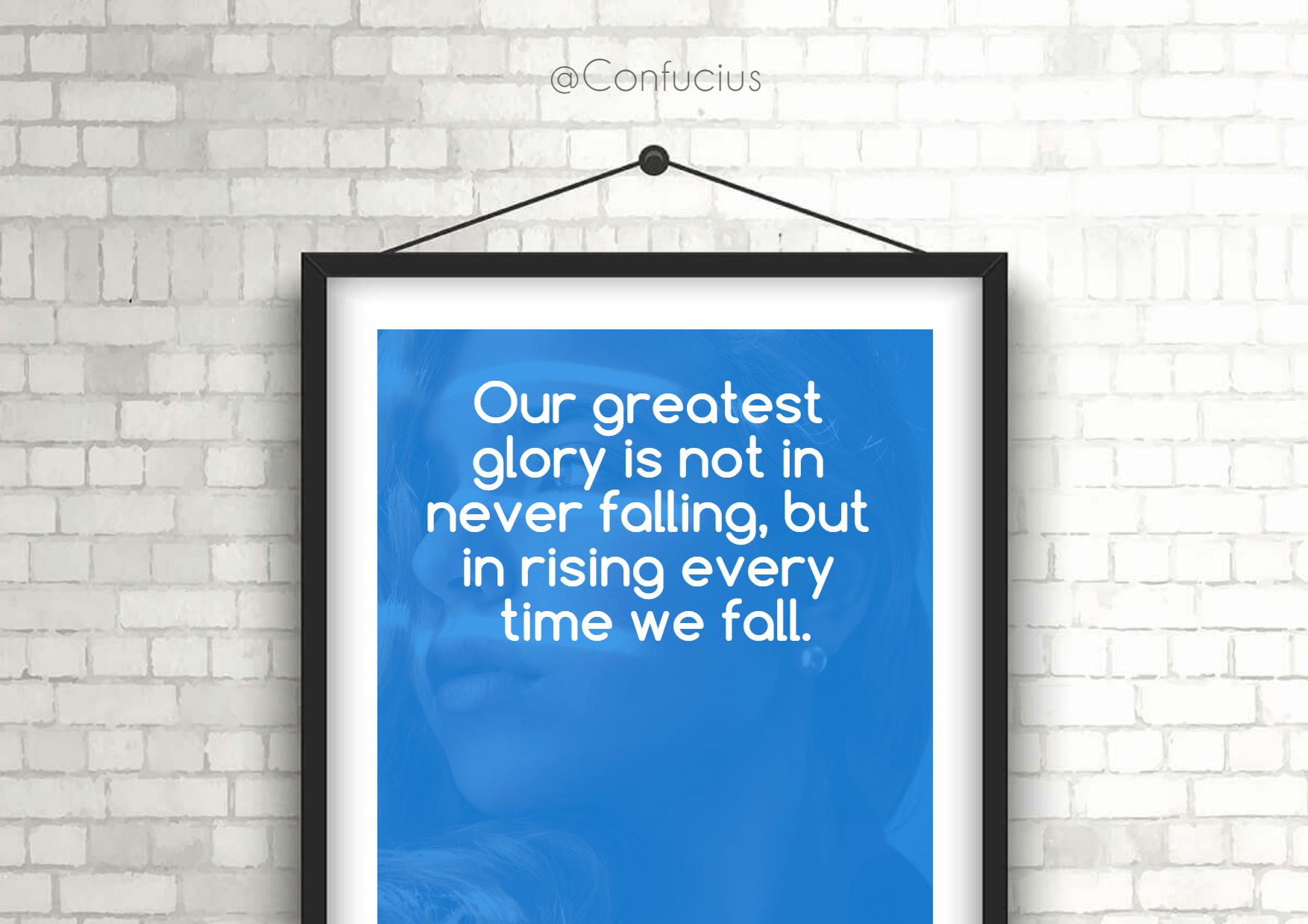 Poster,                Text,                Quote,                Mockup,                Inspiration,                Life,                Photo,                Image,                Frame,                White,                Blue,                 Free Image