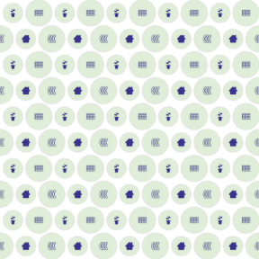 Pattern Design - #IconPattern #PatternBackground #buildings #german #page #nature #house #baggage #rounded #plants #circle #gardening