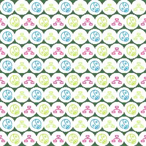 Pattern Design - #IconPattern #PatternBackground #leaf #network #meditation #scheme #networking #shapes #yin #button #circular